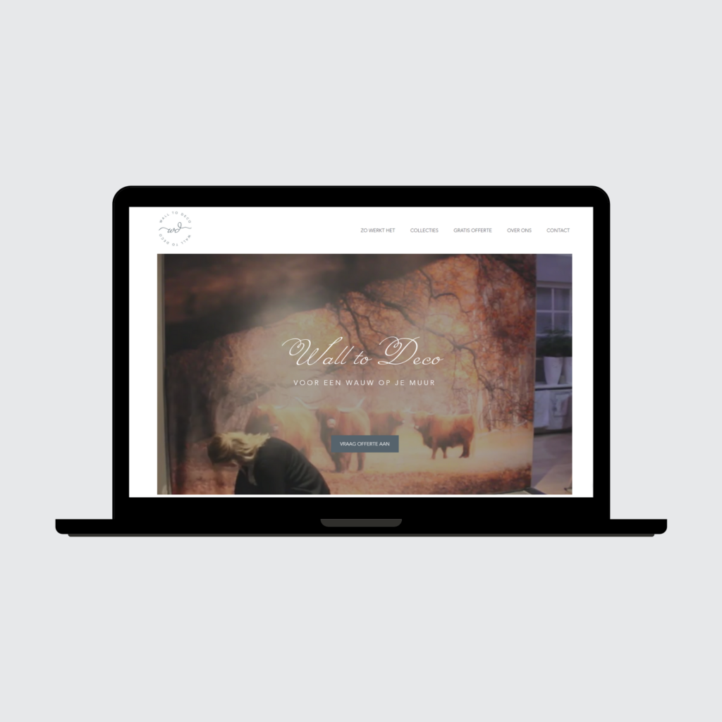 Wall to Deco Mockup Website